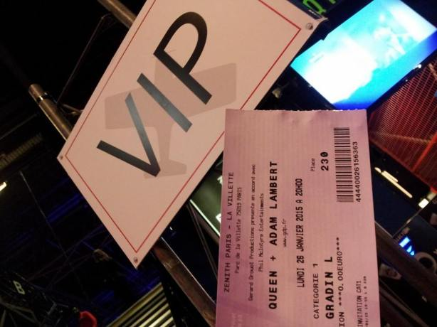 Invitation VIP pour Queen (2015)