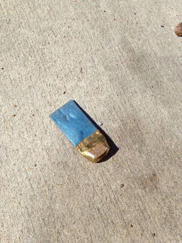 cartouche de fusil à la station essence