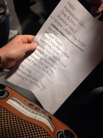 Setlist Adele