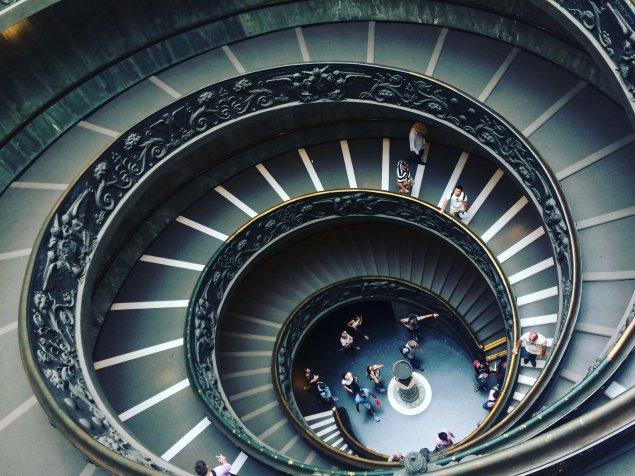 escalier double hélice