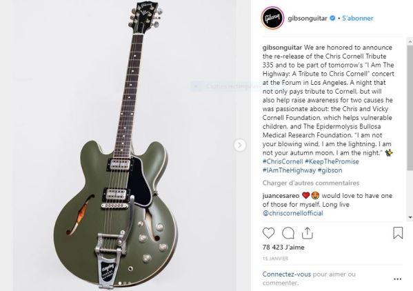 guitarechriscornellgibson